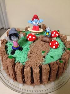 Smurf Gaden Cake